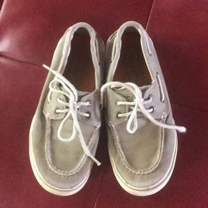 Boys Sperry Top Sider Deck Shoes Size 3